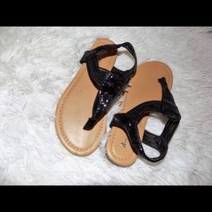 Other - Girls Black thong sandals